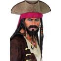 Tricorne Pirate des Caraibes Dreadlocks