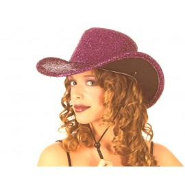 Chapeau Lamé ROSE DISCO
