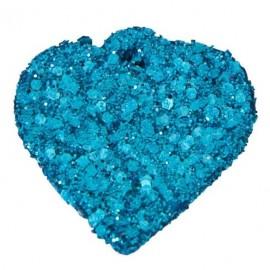 12 Coeurs Paillettes Turquoise