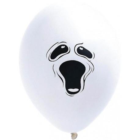 10 BALLONS Blanc FANTOME