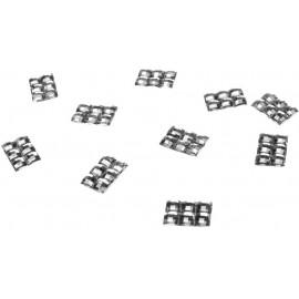 100 confettis 6 Strass Argent