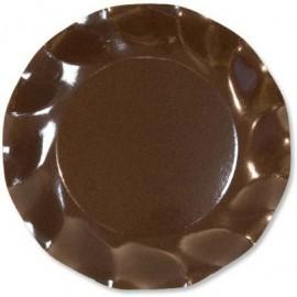 10 Assiettes Dessert Corolle Chocolat 21cm