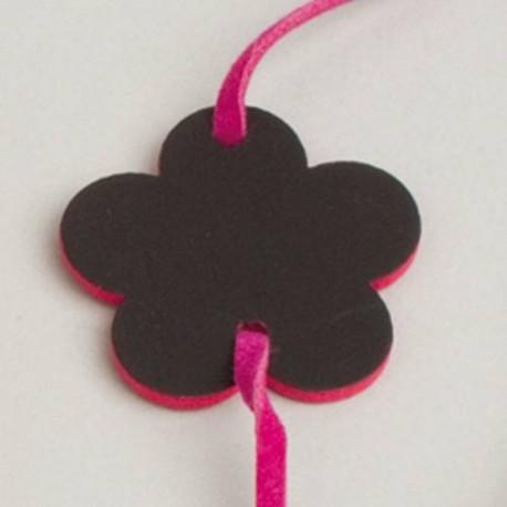 6 Bracelet ARDOISE Fleur rose fuschia