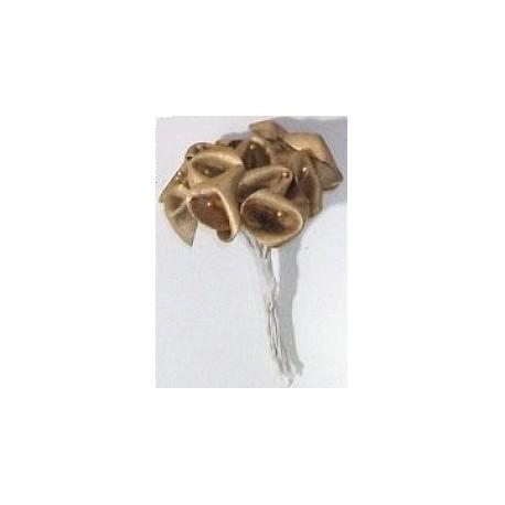 12 Fleurs ARUM Tissu OR