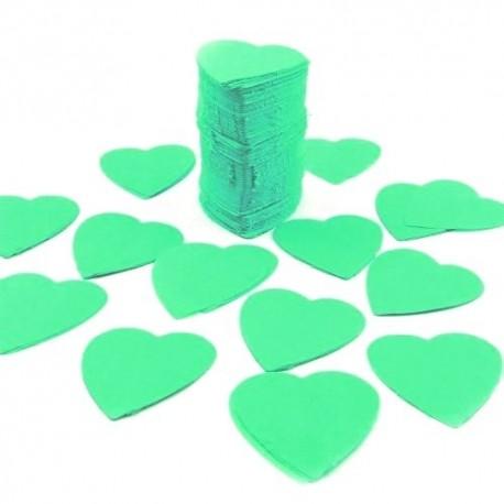 1600 Confettis Scene COEUR Vert Eau