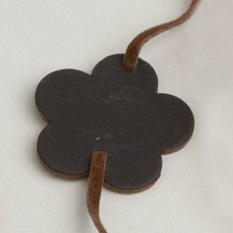 6 Bracelet ARDOISE Fleur Chocolat