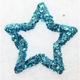 12 étoiles turquoise