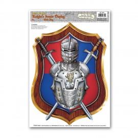 ARMURE adhésive chevalier médiéval