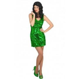 Déguisement Femme Disco Vert