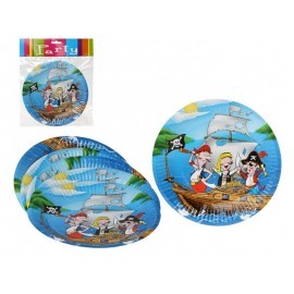 6 Assiettes Pirate