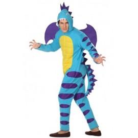 Déguisement Homme Dragon Bleu