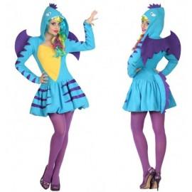 Déguisement Femme Dragon Bleu