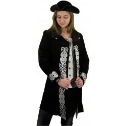 Veste Femme Pirate Noir Luxe
