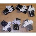 6 Pince à Linge Cupcake Noir/Blanc