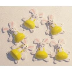 6 Lapin relief autocollant