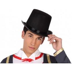 Chapeau Noir Haut de Forme Gibus