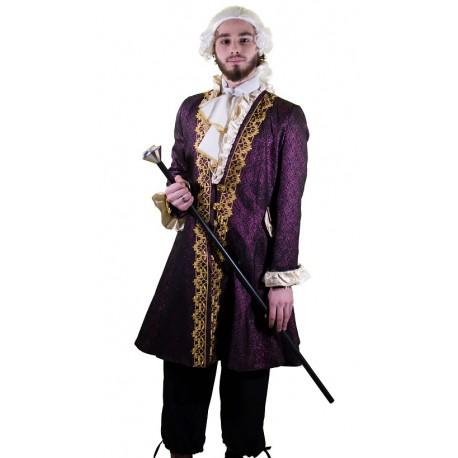 Veste Longue Marquis Violet Homme