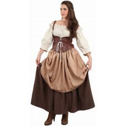 Déguisement Femme Paysanne Médiévale