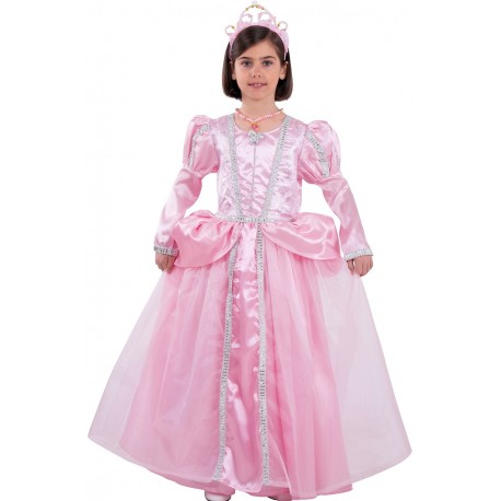 Déguisement Fille Princesse Rose