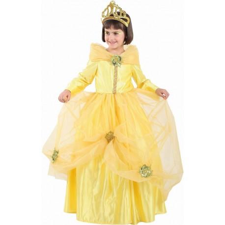 Déguisement Fille Princesse Jaune