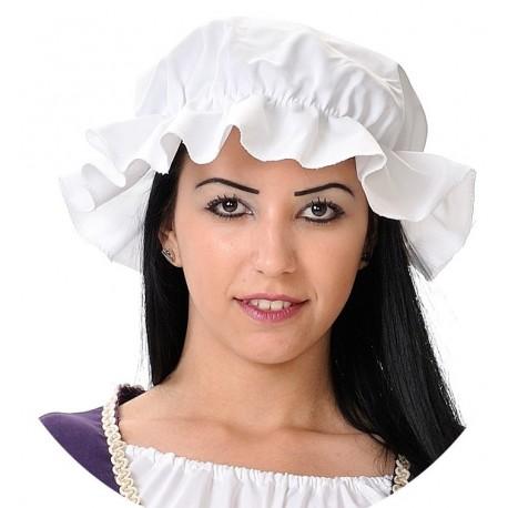 Bonnet Charlotte Blanc Médiéval