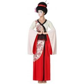 Déguisement Japonaise Rouge Femme