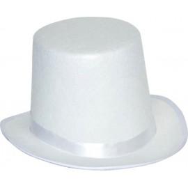 Chapeau Blanc HAUT DE FORME GIBUS
