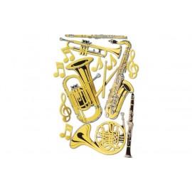 15 silhouettes instruments de musique