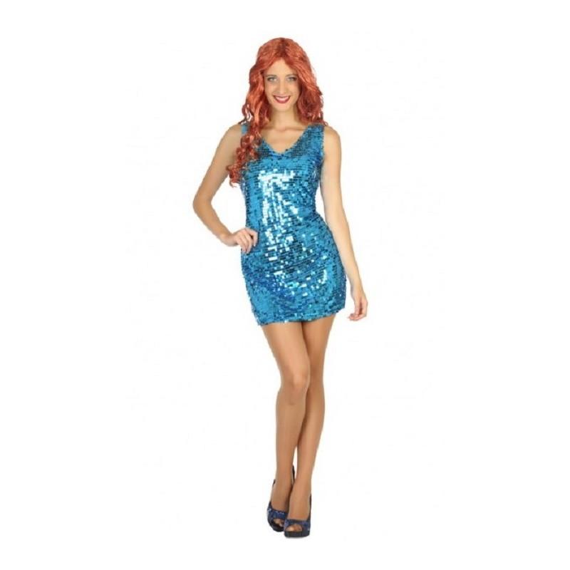 Deguisement Robe Disco Bleu Femme