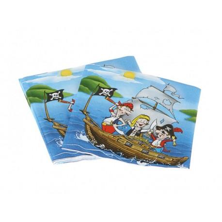 20 Serviettes Pirate