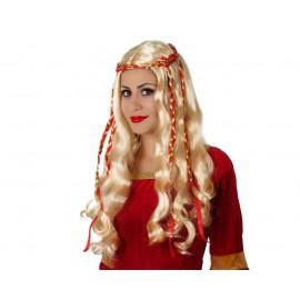 Perruque Blonde Déguisement Dame Médiévale