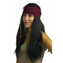 Perruque Noire Indien Cheyenne