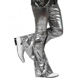 Pantalon Déguisement Disco Argent