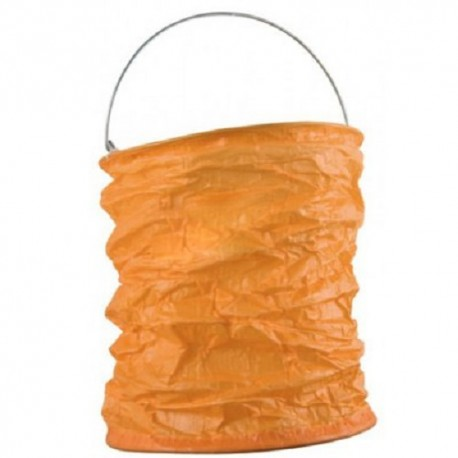 Grand Lampion froissé Orange