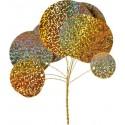 Bouquet Cercle Métallique Doré
