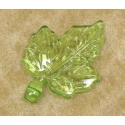 10 Confettis Feuille Verte