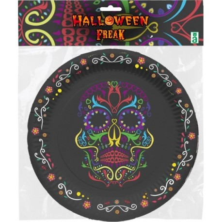 6 Assiettes carton Crane Halloween