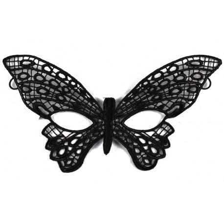 Masque Dentelle Noire Papillon