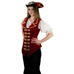 Costume Luxe Femme Capitaine Pirate