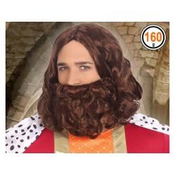 Perruque et Barbe Roi Médiéval