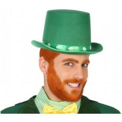 Chapeau Vert Haut de Forme Lutin