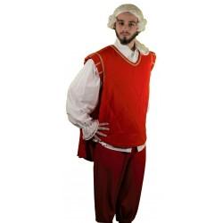 Costume Luxe de Mousquetaire Rouge