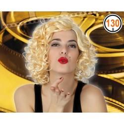 Perruque Bouclée court Blond