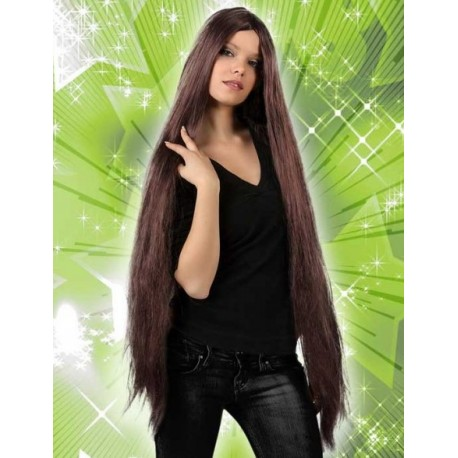 Perruque Extra Longue Chatain Femme