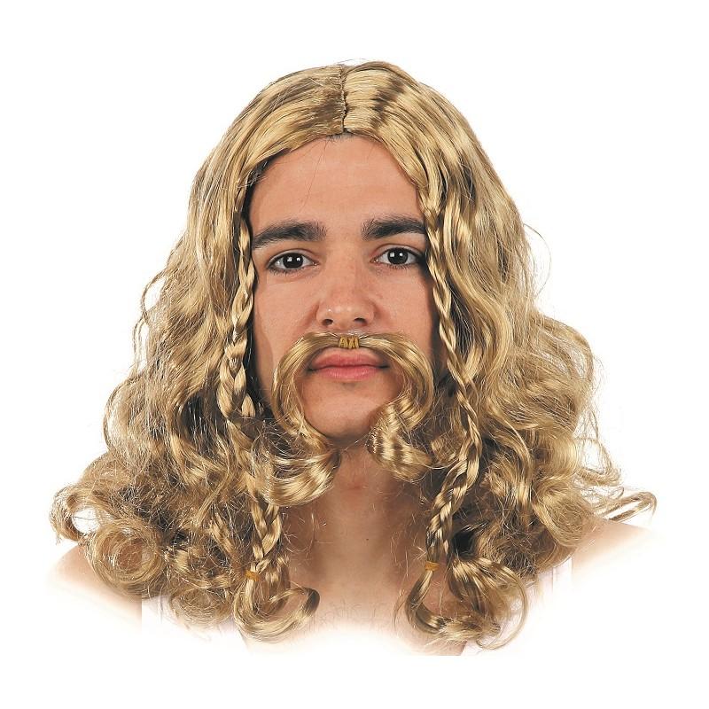 Perruque Viking Blonde pour Homme