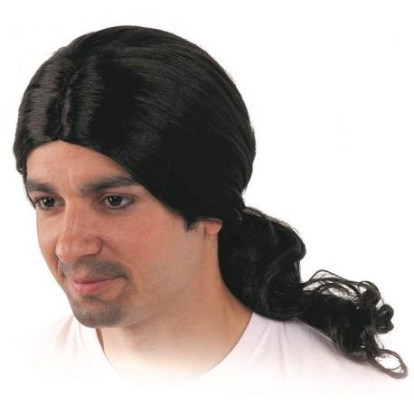 Perruque Noire Homme Médiéval