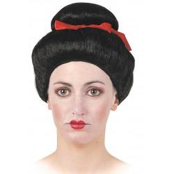 Perruque Noire Japonaise
