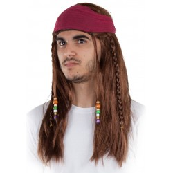 Perruque Chatain Pirate des Caraibes
