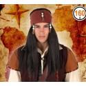 Perruque Noire Indien Pirate
