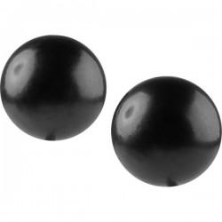 24 Perles Nacrées Noir 2cm